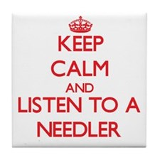 Keep Calm and Listen to a Needler Tile Coaster