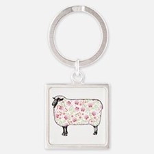 Floral Sheep Keychains