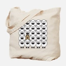 Tervuren and Sheep Tote Bag
