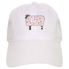 Floral Sheep Baseball Baseball Cap
