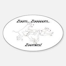 Z Z Zoomies Oval Decal