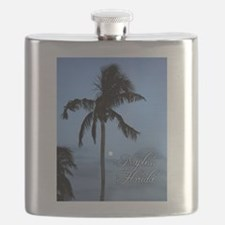 Palm Tree with Moon in Naples, FL Flask