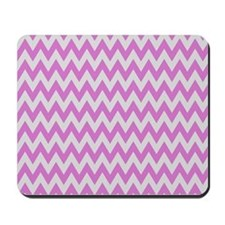 Pink and Grey Chevron Mousepad