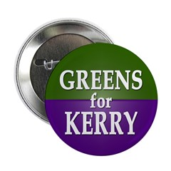 Greens for Kerry Button (100 pack)