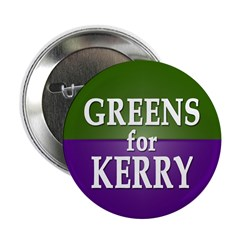 Greens for Kerry Button