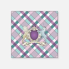 "FAMILY CREST PLAID Square Sticker 3"" x 3"""