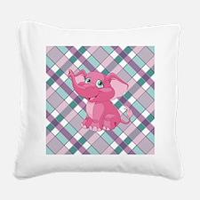 PINK ELEPHANT Square Canvas Pillow