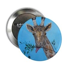 "Giraffe Face Art 2.25"" Button"