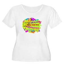 Life Is A Canvas-Danny Kaye/ Plus Size T-Shirt