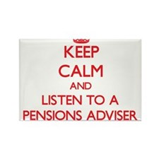 Keep Calm and Listen to a Pensions Adviser Magnets