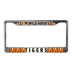 Wild About Tigers License Plate Frame