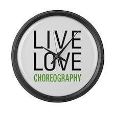 Live Love Choreography Large Wall Clock
