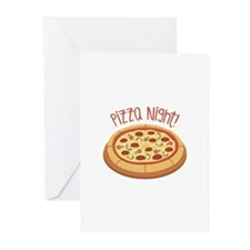 Pizza Night! Greeting Cards