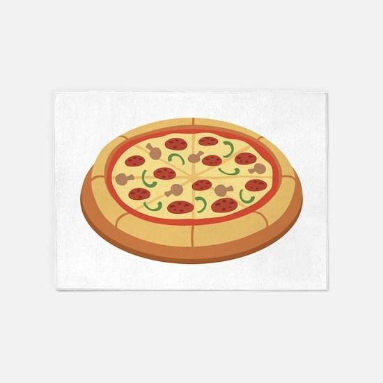 Pizza 5'x7'Area Rug