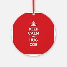 Hug Zoe Ornament (Round)
