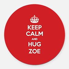 Hug Zoe Round Car Magnet