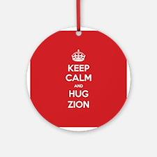 Hug Zion Ornament (Round)