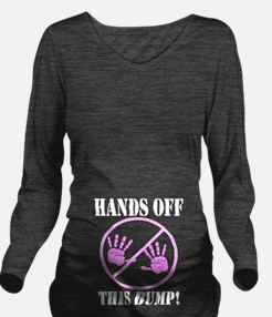 Hands Off this Bump Long Sleeve Maternity T-Shirt