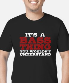 It's a Bass Thing Men's Fitted T-Shirt (dark)
