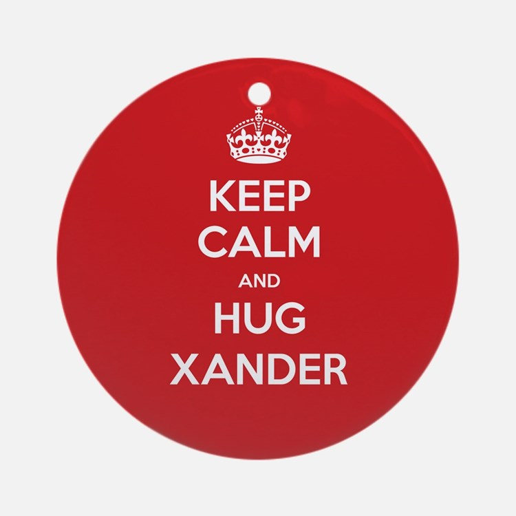 Hug Xander Ornament (Round)