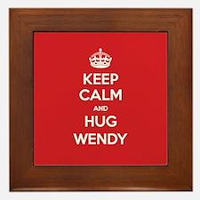 Hug Wendy Framed Tile
