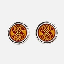 Seal Of Rassilon Time Lord Round Cufflinks