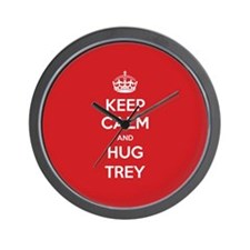 Hug Trey Wall Clock