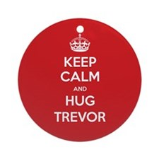 Hug Trevor Ornament (Round)