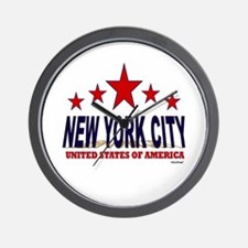 New York City U.S.A. Wall Clock