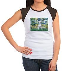 Bridge-BullTerrier (P) Women's Cap Sleeve T-Shirt