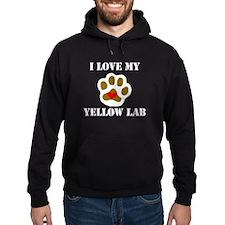 I Love My Yellow Lab Hoodie