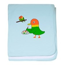 I am a lovebird. baby blanket