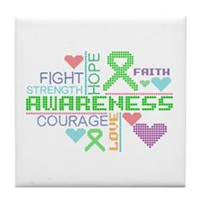 Bipolar Disorder Slogans Tile Coaster