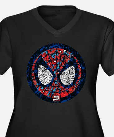 Spiderman Ma Women's Plus Size V-Neck Dark T-Shirt