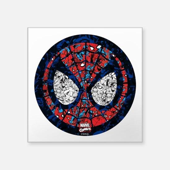"""Spiderman Mask Square Sticker 3"""" x 3"""""""