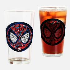 Spiderman Mask Drinking Glass
