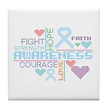Behcet Disease Slogans Tile Coaster