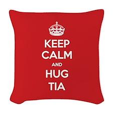 Hug Tia Woven Throw Pillow