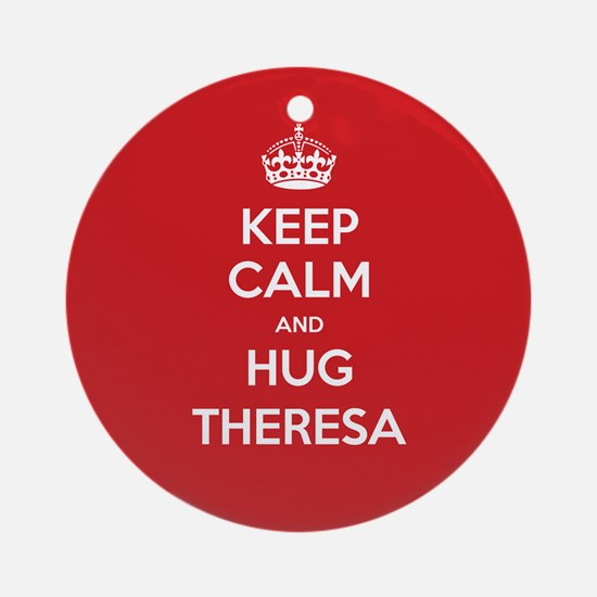 Hug Theresa Ornament (Round)