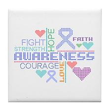 Anorexia Nervosa Slogans Tile Coaster