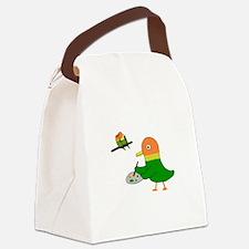 I am a lovebird. Canvas Lunch Bag