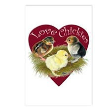 Love Chickies Postcards (package Of 8)