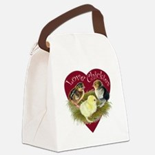Love Chickies Canvas Lunch Bag
