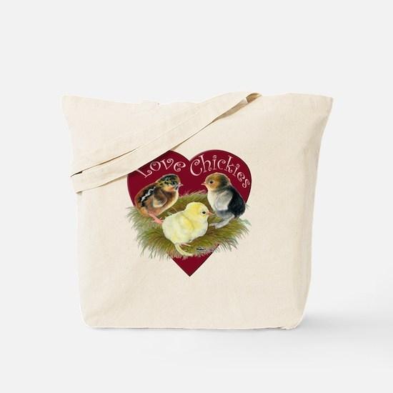 Love Chickies Tote Bag