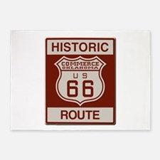 Commerce Route 66 5'x7'Area Rug