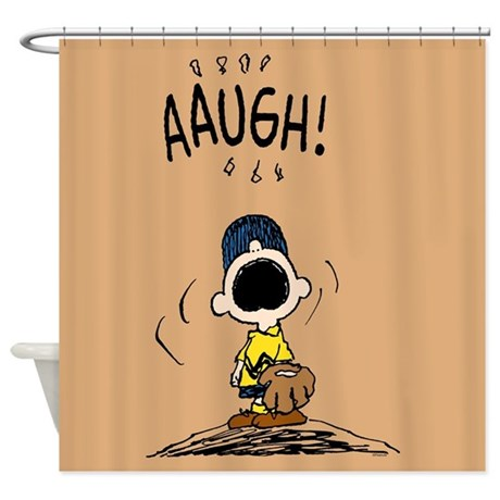 Charlie Brown Baseball Shower Curtain by snoopystore