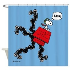 Flying Ace Rats! Shower Curtain