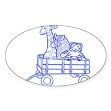 TOYS BLUE Oval Decal