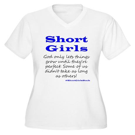 Short Girls (blue) Plus Size T-Shirt