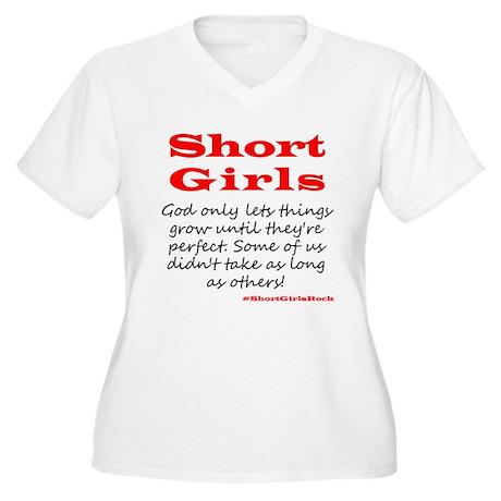 Short Girls (red) Plus Size T-Shirt